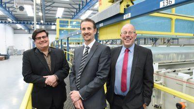 Andy Walker Lancashire CC, Brent Collins Managing Director Manufacturing Division BCW & Peter Rooney Enterprise Ventures