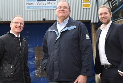 L-R County Cllr Tim Ashton, John Seymour of NVM, Chris Carter of Mercia