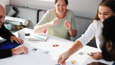 women brainstorming stock image