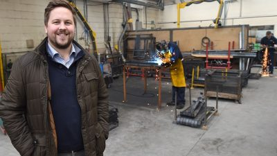 Chris Smith from Pendle Engineering Nelson Lancashire aims for business growth after receiving Boost advice