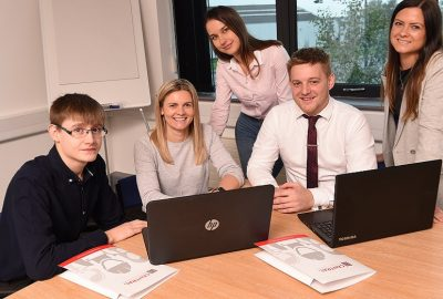 Central_Recruitment_Team_L-to-R_Joe Palmer_Natalie Smith_Klaudia Kisel _Jacob Leeming_Laura Baxter
