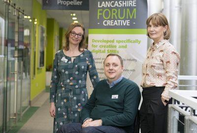 Lancashire Creative Forum - L-R Juliane Lowe, Laurie Smith, Elena Vasilieva