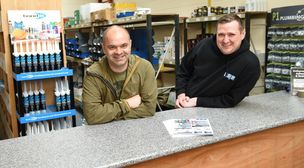 Left-Right: Danny Goodall and Gareth Greenhalgh, directors of NGD Plumbing and Heating Supplies