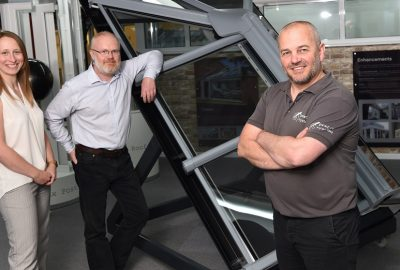 Prefix Systems team with loft window