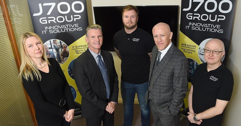 J700 Group team with mentor Paul Bury
